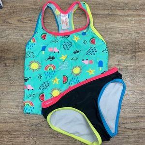 Cat & Jack XS (4-5) Girl's neon Bikini